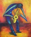 Obras de arte: America : Argentina : Buenos_Aires : Quilmes : El Saxofonista