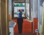 Obras de arte: Europa : España : Madrid : Valdemorillo : Mujer en la ventana del baño
