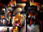 Obras de arte: America : México : Mexico_Distrito-Federal : Xochimilco : Policefalo
