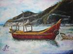 Obras de arte: America : Colombia : Antioquia : Envigado : Pescadores en Taganga
