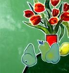 Obras de arte: Europa : Francia : Nord-Pas-de-Calais : LONGUENESSE : Tulipes, poires et citron