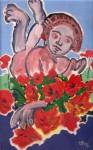 Obras de arte: Europa : Francia : Nord-Pas-de-Calais : LONGUENESSE : Enfant aux coquelicots