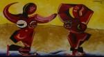 Obras de arte: America : México : Puebla : puebla_ciudad : BAÑISTAS