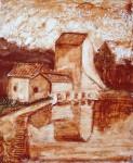 Obras de arte: Europa : España : Andalucía_Sevilla : Alcala_de_guadaira : Molino en relieve