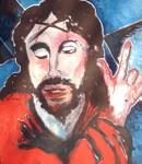 Obras de arte: Europa : Francia : Nord-Pas-de-Calais : LONGUENESSE : Le Christ poratnt sa croix ( d'après Solario Andréa )