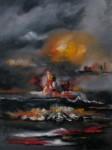 Obras de arte: America : Colombia : Cundinamarca : engativa : fantasía tormentosa