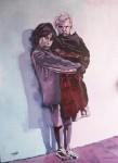 Obras de arte: Europa : España : Castilla_y_León_Burgos : Miranda_de_Ebro : Niña con niño en brazos (foto: M.Cultura)