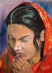 Obras de arte: America : Argentina : Santa_Fe : Rosario : Mujer Hindú