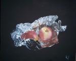 Obras de arte: Europa : España : Valencia : valencia_ciudad : Manzanas en papel de aluminio