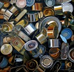 Obras de arte: Europa : España : Castilla_La_Mancha_Albacete : Molinicos : Muchas latas