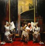 Obras de arte: America : Argentina : Buenos_Aires : Ciudad_de_Buenos_Aires : Tres Gitanas en Blanco ll
