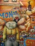 Obras de arte: America : Perú : Piura : Piura_ciudad : HOMBRE  DE  LA  ESQUINA