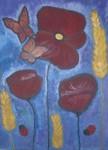 Obras de arte: Europa : España : Andalucía_Granada : La_Zubia : AMAPOLAS ENTRE ESPIGAS