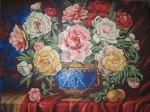 Obras de arte: America : Rep_Dominicana : Santiago : rep._imperial : florero azul