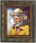 Obras de arte: America : Rep_Dominicana : Santiago : monumental : viejo con pipa