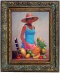 Obras de arte: America : Rep_Dominicana : Santiago : monumental : vendedora de frutas