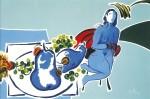 Obras de arte: Europa : Francia : Nord-Pas-de-Calais : LONGUENESSE : Nu assis aux fruits