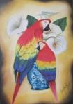 Obras de arte: America : México : Aguascalientes : Aguascalientes_ciudad : guacamayas