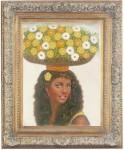 Obras de arte: America : Rep_Dominicana : Santiago : monumental : vendedora de flores