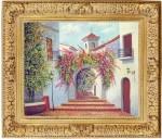 Obras de arte: America : Rep_Dominicana : Santiago : monumental : paisaje colonial