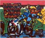 Obras de arte: Europa : España : Castilla_La_Mancha_Albacete : Albacete : Capitulo XXII. De la increible aventura que vivio don Quijote con las que penso eran atontadoras maquinas infernales y otros sucesos dignos de contarse