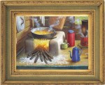 Obras de arte: America : Rep_Dominicana : Santiago : monumental : cocina de campo