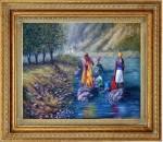 Obras de arte: America : Rep_Dominicana : Santiago : monumental : lavanderas en el rio yaque 3