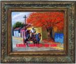 Obras de arte: America : Rep_Dominicana : Santiago : monumental : coche en pueblo nuevo