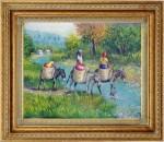 Obras de arte: America : Rep_Dominicana : Santiago : monumental : marchantas cruzando el rio