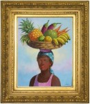 Obras de arte: America : Rep_Dominicana : Santiago : monumental : vendedora de frutas 4
