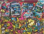 Obras de arte: Europa : Espa�a : Castilla_La_Mancha_Albacete : Albacete : Cap�tulo XXI. Del increible sue�o que tuvo don Quijote guiado por el viejo sabio Don Juan a la horrible fiesta que ofreci� el demonio en Tlaltelolco