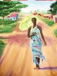 Obras de arte: America : Rep_Dominicana : Santiago : rep._imperial : camino al pueblo