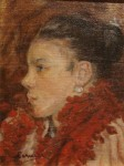 Obras de arte: America : Uruguay : Montevideo : Montevideo_ciudad : Mujer de la bufanda roja de Saenz