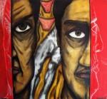 Obras de arte: America : México : Chiapas : Tapachula : man and man