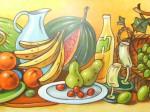 Obras de arte: Europa : España : Andalucía_Sevilla : Alcala_de_guadaira : frutas bailongas