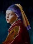 Obras de arte: Asia : Israel : Haifa : HAIFA_ISRAEL : Girl with a pearl. (сopy).