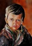 Obras de arte: Asia : Israel : Haifa : HAIFA_ISRAEL : Crying boy. Portrait.