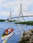 Obras de arte: Europa : España : Andalucía_Huelva : Ayamonte : PUENTE INTERNACIONAL