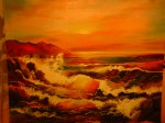 Obras de arte: America : Chile : Valparaiso : Valparaíso : oleaje